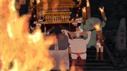 縮小:E−2作品画像「くらまの火祭」谷 耀介